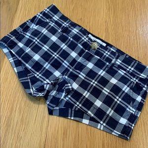 Abercrombie Check Summer Cute Shorty Shorts SZ 12